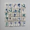 Wild flowers and underglazes on porcelain mosaic tiles