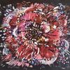 Rebel Rose (80x60cm) Large abstract rose flower, acrylic on canvas