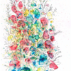 Blue, Red, Yellow Flowers (Brusho Crystal Pigments) - It's all in the detail