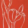 Red Tulips ~ linocut