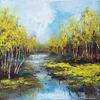 Riverbank, Acrylic on canvas, 30 x 30 cm