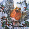 Robin Redbreast, acrylic on canvas, 61cm x 61cm, £495.00