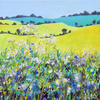 Rolling Countryside, Acrylic on canvas, framed