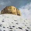 Cliffords Tower, York, acrylic on canvas, 100cm x 80cm, £595.00