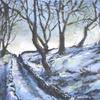 Snowy snicket, acrylic on canvas, 45cm x 35cm, £295.00