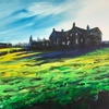 Houses on Pinner, Yorks, acrylic on canvas, 41cm x 31cm, £295.00