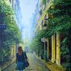 Wonderland, acrylic on canvas, 51cm x 76cm, commission