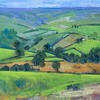 Rosedale, North Yorkshire Moors. - Acrylic on plyboard 53x53cm framed