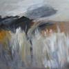 """""""Salt Marsh"""" mixed media 37 x 37cms.  On canvas framed £200"""