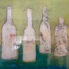 Greek Bottles - mixed on board