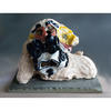 Wisdom: Glazed Ceramic (H)22cmx (W)29cm x (D)22cm, £800 (plinth is 30cm square)