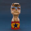 Figurehead: boy. Ceramic, wax, copper, brass (H) 15cm, £400