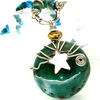 small enamel pendant with bead chain