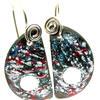 enamel earrings with silver wire