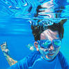 Submerged in blue 2. Oil on canvas  3ft by 3ft