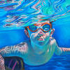 Submerged in blue. Oil On Canvas 2020  4ft by 3ft