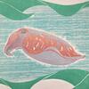 """Sea chameleon"" - Reduction linocut - 1/3"