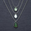 Sterling silver sea glass pendants