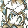 """Title: """"She Loves Her Jewellery"""" Medium: Permanent Markers & Graphic Pens on paper. NFS"""