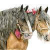 Heavy Horses - Watercolour Painting