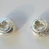 Silver eucalyptus stud earrings by Teague