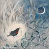 Singing to the Winter Moon, acrylic by Sue Wookey
