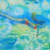 Sarah Gidden sketchbook study in watercolour 2020