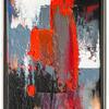 Slash. Full point. 33.5 x  26cm  Acrylic & oil on canvas. Celebrating colour