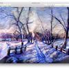 'SNOW SHADOWS'  pastel