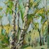 Spring Birches, 80x60cm