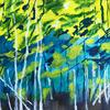 Spring Forest - landscape: acrylics on canvas, 40x50cm £ 70