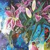 """STARGAZERS & FEATHERS""  acrylic on canvas"