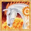 Sun Horse - watercolour