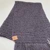 Crochet Summer Scarf - Diana - handmade, 100% Bamboo fibre, Colour: Dark Grey