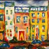 Summer and the City- cityscape: acrylics on wood, 40x50cm £50