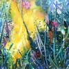 """Sunburst, acrylic on canvas 16"""" x 16"""" (Giclee prints available)"""