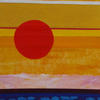 Sunny day, size 14x59 cm, paper collage, acrylic paint