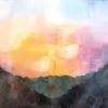 'Sunset over Samoens'  40 x 30cm  Oil on Canvas