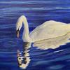 Swan, Acrylic on Canvas, 30.5 x 40.5 cm