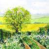 The View from the Path.  Watercolour.