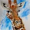 George the Giraffe. 'SOLD'