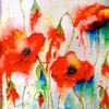 Poppies and Blues