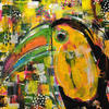 Toucan (Acrylic Mixed Media on Canvas)