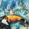 "Mixed Media Acrylic Painting on canvas 20""x20"""