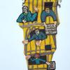 St Albans medieval clocktower -  Handstitched purse of clock tower in medieval St Albans