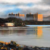 Trawsfynydd Power Station, oil painting on canvas board, SOLD