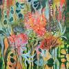 Tropical Flowering 4, Acrylic on canvas, framed