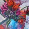 ":TURQUOISE JUG""  acrylic on canvas"