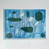 'Underwater' Drypoint print and stencils
