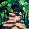 Up the garden path - acrylic on canvas